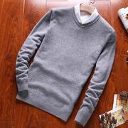 北极绒新款男士V领羊毛衫BJR16C800